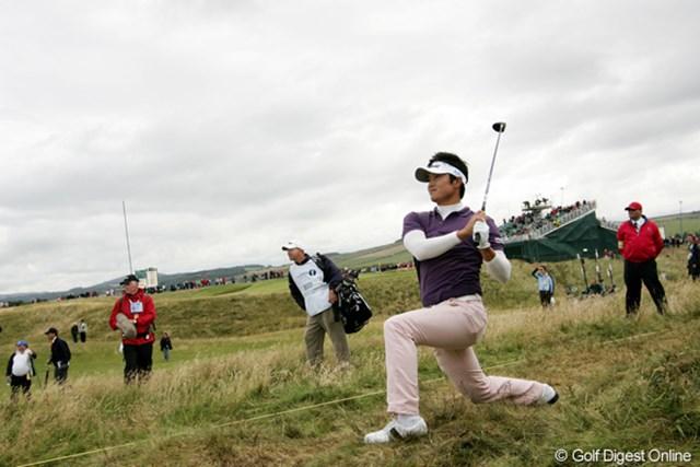 2009年 全英オープン3日目 今田竜二 ショットが右に左に大曲。