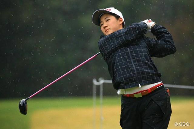2016年 Tポイントレディス ゴルフトーナメント 初日 山口すず夏 暫定首位タイに立った15歳のアマチュア山口すず夏