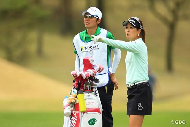 2016年 Tポイントレディス ゴルフトーナメント 2日目 福田真未 福田真未は1バーディの穏やかなゴルフで通算2アンダー6位につけた