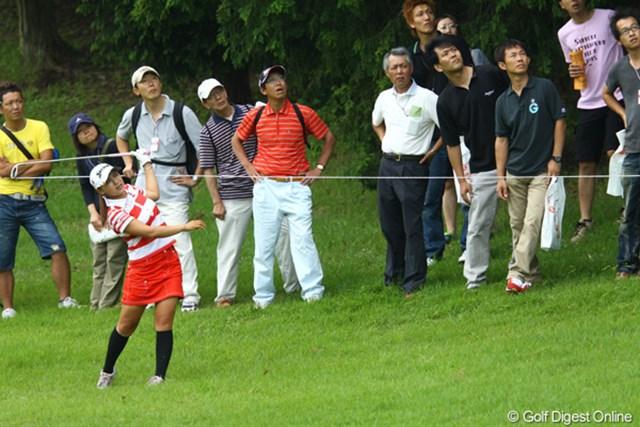 2009年 スタンレーレディスゴルフトーナメント 最終日 横峯さくら 風を読み切れず、12番から3連続ボギーを叩いた横峯さくら