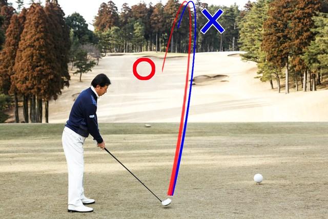 (画像4枚目) 打ち下ろしでの目標は「落下地点」or「目線ライン上」、どっち? 「ランまで想定して打っていきます」(牧野プロ)
