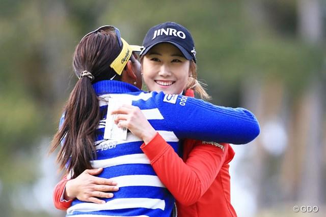 2016年 アクサレディスゴルフトーナメント in MIYAZAKI 初日 キム・ハヌル 今週こそは最終日にこの笑顔がみたいね