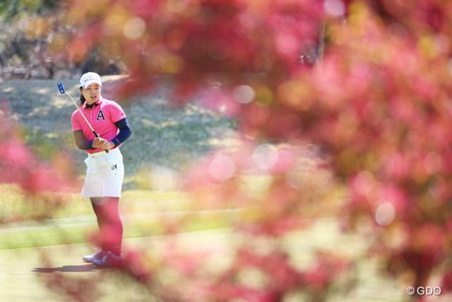 2016年 アクサレディスゴルフトーナメント in MIYAZAKI 2日目 永峰咲希 咲希ちゃんも花を咲かせたいね