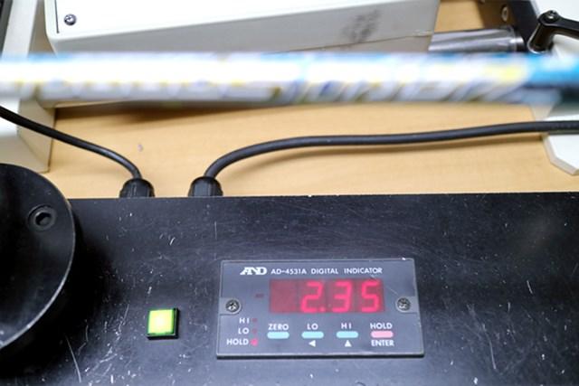 (画像 4枚目) 藤倉ゴム工業 ZERO Speeder マーク試打 センターフレックス値も2.35と非常に軟らかく、明らかに低ヘッドスピードのゴルファーを意識したフレックス設定になっている。