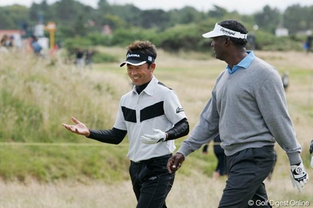 2009年 全英オープン最終日 久保谷健一 シンとの会話を楽しむ余裕もあった