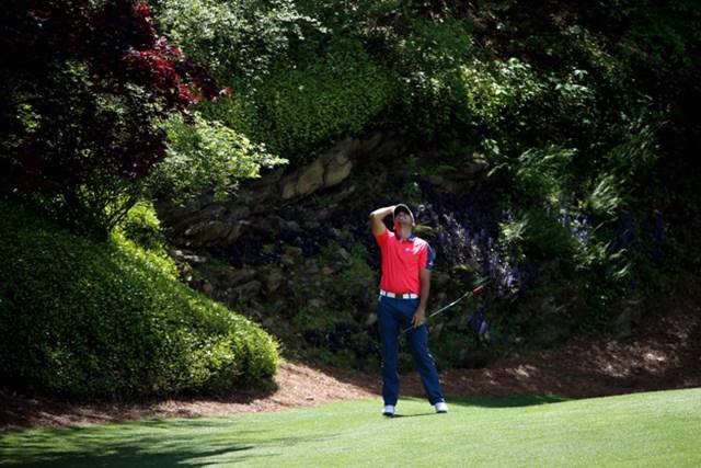 12番グリーンでチャンスを逃し天を仰ぐJ.デイ(Andrew Redington/Getty Images)