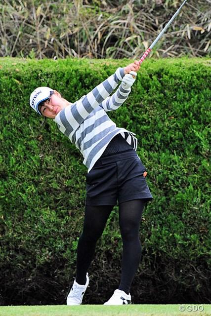 2016年 スタジオアリス女子オープン 最終日 蛭田みな美(アマ) 11位タイでローアマタイトルを獲得した蛭田みな美。今年度のプロテスト注目の1人だ