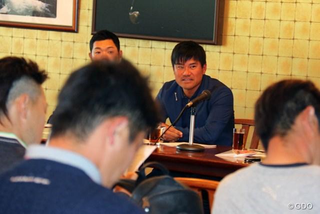 選手会の総会を行った宮里優作。本格稼働した新会長は選手をまとめ、ツアーの復権を目指す