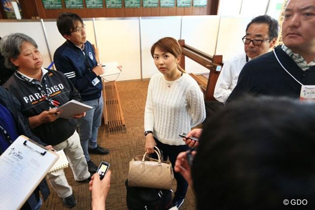 2016年 KKT杯バンテリンレディスオープン 菊地絵理香 昨年覇者の菊地は「東日本大震災と同じくらい揺れた」と語った