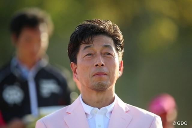 2016年 東建ホームメイトカップ 最終日 中村雅俊 ま表彰式が終わるとエンドレスで歌が流れていた。