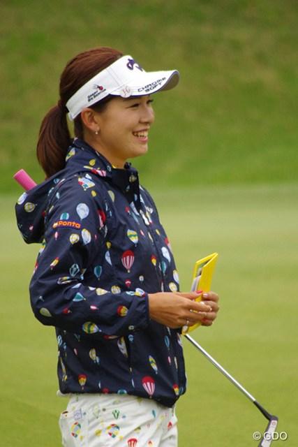 昨年優勝した時に見せた笑顔とともに、川奈に帰ってきた藤田光里