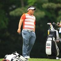 タイのゴルファーです。9位タイスタート。風貌は何だかゴルファーっぽくないですね 2016年 パナソニックオープンゴルフチャンピオンシップ 初日 P・ピッタヤラット