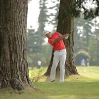 最終9番、バーディパットは惜しくも入らず 2016年 パナソニックオープンゴルフチャンピオンシップ 2日目 呉阿順