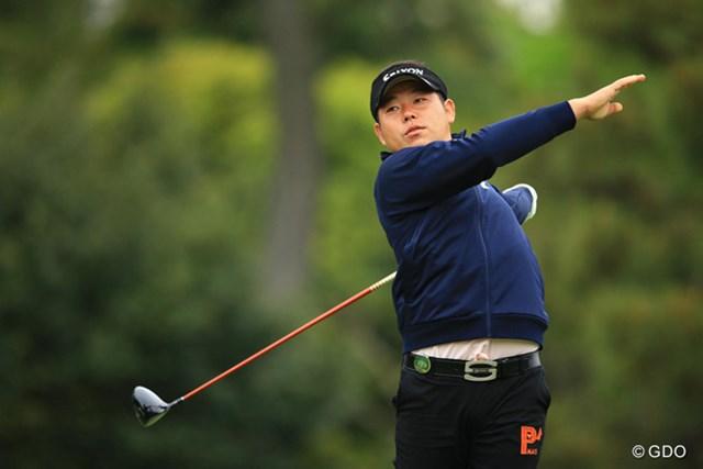 2016年 パナソニックオープンゴルフチャンピオンシップ 3日目 小池一平 ミスショットも時には、仮面ライダーの変身に見えます。