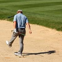 バンカーショットをミスして砂を蹴っ飛ばす 2016年 バレロテキサスオープン 3日目 チャーリー・ホフマン