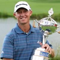 プレーオフで優勝を決めたナイサン・グリーン(Claus Andersen/Getty Images) 2009年 カナディアンオープン 最終日 ネイサン・グリーン