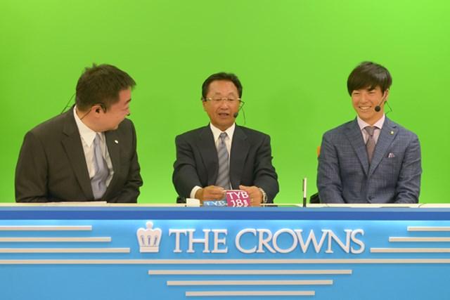今週はテレビ解説席から戦況を伝える石川遼(大会提供)