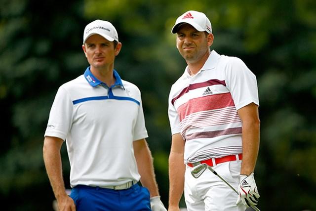 2人ともテーラーメイドの看板選手。シューズとアパレルはアディダスゴルフとして続けるという(Sam Greenwood/Getty Images)※撮影は2014年全米プロ選手権