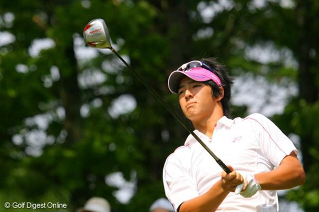 2009年 サン・クロレラ クラシック3日目 石川遼 出入りの激しいゴルフながらも、スコアをまとめて単独首位をキープした石川遼※画像はミズノオープンよみうりクラシックのもの