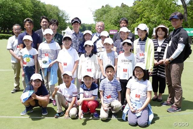 福島県相馬市の児童に『石川パター塾』を実施