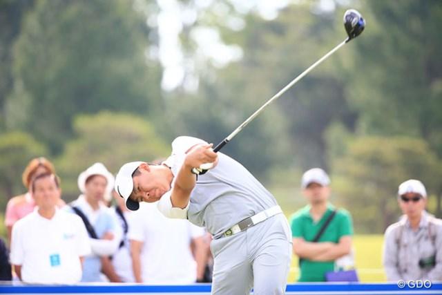 2016年 関西オープンゴルフ選手権競技 初日 三田真弘 すごい体の使い方だね とても14歳には見えないけど