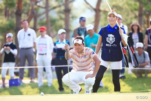 2016年 関西オープンゴルフ選手権競技 初日 片岡大育 今年もこのペアで優勝いただきかな