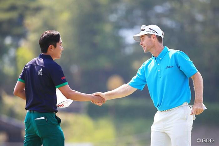 3日間通して1,2位フィニッシュ 2016年 関西オープンゴルフ選手権競技 3日目 スコット・ストレンジ、朴ジュンウォン