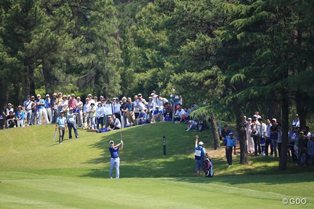 2016年 関西オープンゴルフ選手権競技 3日目 川村昌弘 曲げてもここなら大丈夫