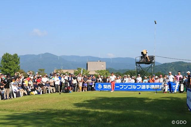 2016年 関西オープンゴルフ選手権競技 3日目 池田勇太 関西オープン1番ティ