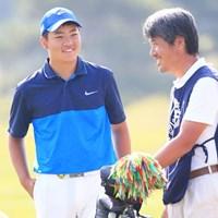 スタート前お父さんと談笑 2016年 関西オープンゴルフ選手権競技 最終日 三田真弘