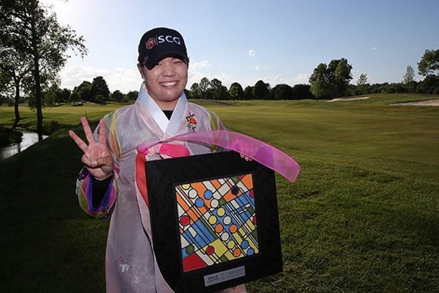 2016年 LPGAボルヴィック選手権 最終日 アリヤ・ジュタヌガン 3連勝を記録したジュタヌガン。勢いは誰にも止められない(Leon Halip/Getty Images)