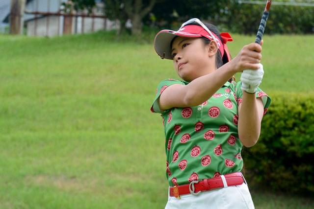 首位タイの好スタートを切った17歳でアマチュアの河本結 ※画像提供:日本女子プロゴルフ協会(LPGA)