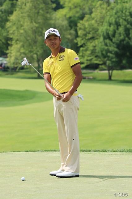ハードな日程の中、開幕前日にミュアフィールドで9ホールの練習ラウンドを行った岩田寛