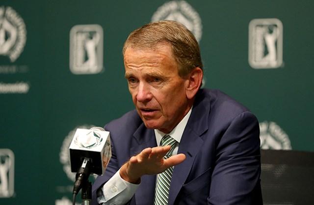 WGCメキシコ選手権開催の発表で、PGAツアーコミッショナーのフィンチェム氏は政治と無関係の判断を強調した(Sam Greenwood/Getty Images)