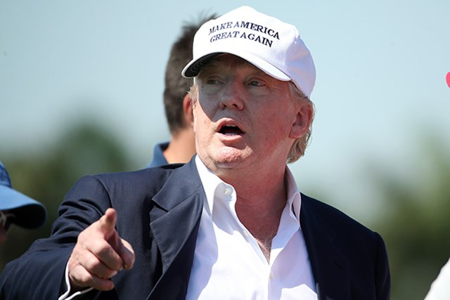 共和党候補を決める予備選の最中だった今年もトランプ氏は最終日に会場入りしていた(Mike Ehrmann/Getty Images)
