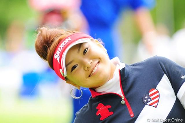 2009年 アクサレディスゴルフトーナメント初日 青山加織 カオリン。今日は残念。でも明日も笑顔で頑張ってくれェ~~。