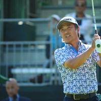 あら、米山さん。もっと久しぶりですね。 2016年 日本ゴルフツアー選手権 森ビルカップ Shishido Hills 初日 米山剛
