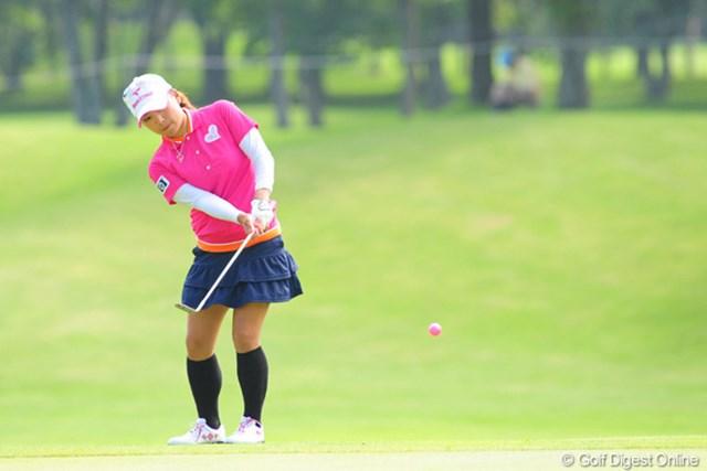 2009年 アクサレディスゴルフトーナメント初日 有村智恵 ホンマ、確実に強くなってるワ。プレーに余裕があるもん。