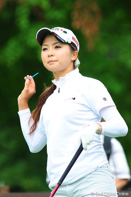 2009年 アクサレディスゴルフトーナメント初日 菊地絵理香 地元も地元の苫小牧出身です。姉妹での出場となりました。