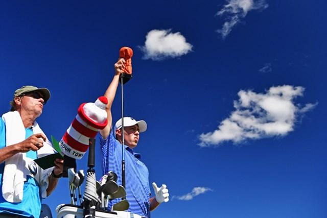 2016年 ノルデアマスターズ 3日目 マシュー・フィッツパトリック リードを5打差に広げて最終日に入るM.フィッツパトリック(Stuart Franklin/Getty Images)