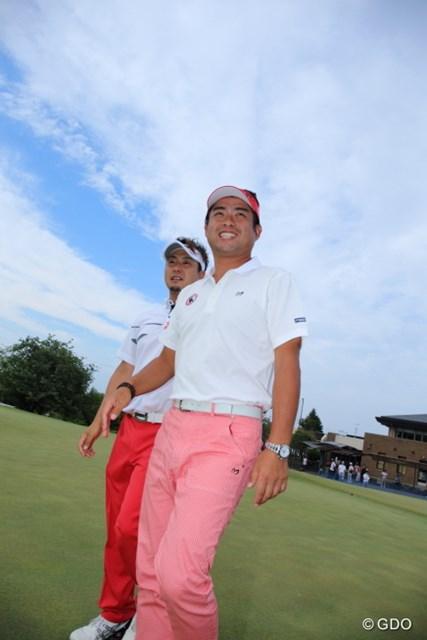 2016年 日本ゴルフツアー選手権 森ビルカップ Shishido Hills 最終日 池田勇太&塚田陽亮 池田勇太は、同級生の塚田陽亮のツアー初優勝を自分のことのように喜んだ