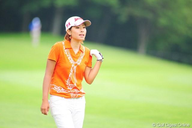 2009年 アクサレディスゴルフトーナメント最終日 森田理香子 優勝は出来なかったが、今季の獲得賞金は2000万円を超え、ほぼ来季のシード権を確定させた森田理香子