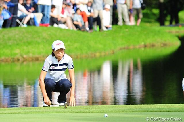 2009年 アクサレディスゴルフトーナメント最終日 李知姫 チヒちゃん惜しくも2位。でもモモチにあのスーパーショット打たれたら仕方ないでェ・・・残念!