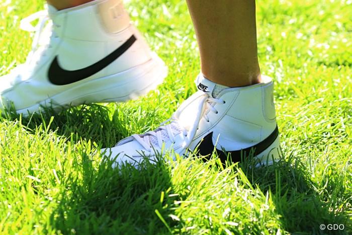 ミッシェル・ウィの足元はナイキのハイカットシューズ 2016年 KPMG女子PGA選手権 事前 ミッシェル・ウィ