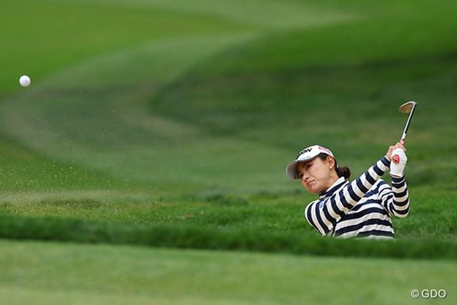「耐えるゴルフができなかった」と悔しがった横峯さくら