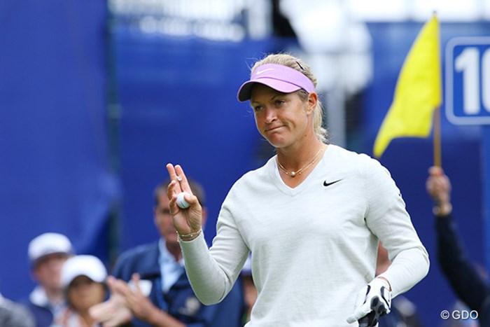 スタートホールの挨拶も男前 2016年 KPMG女子PGA選手権 初日 スーザン・ペターセン