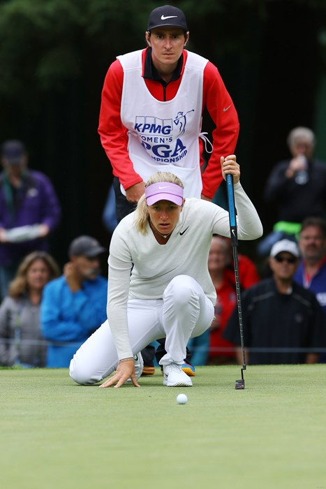 パッティングの読み方が男前 2016年 KPMG女子PGA選手権 初日 スーザン・ペターセン