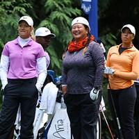 。濃ゆ?い3人が同組になりました 2016年 KPMG女子PGA選手権 3日目 スーザン・ペターセン、クリスティナ・キム、シャイアン・ウッズ