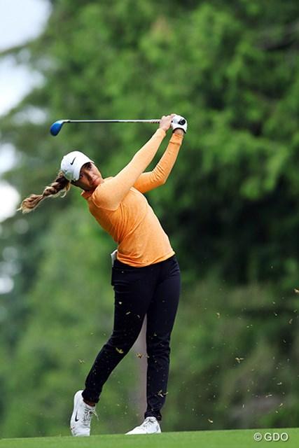 2016年 KPMG女子PGA選手権 3日目 シャイアン・ウッズ 何度見てもキレイなスイング。くせがない上にパワフルなスイングは女子ではなかなか見られません