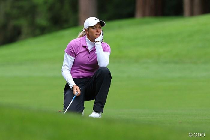 18番ホールのセカンドでミスしてボギー。3打差の10位タイで最終日に臨む 2016年 KPMG女子PGA選手権 3日目 スーザン・ペターセン